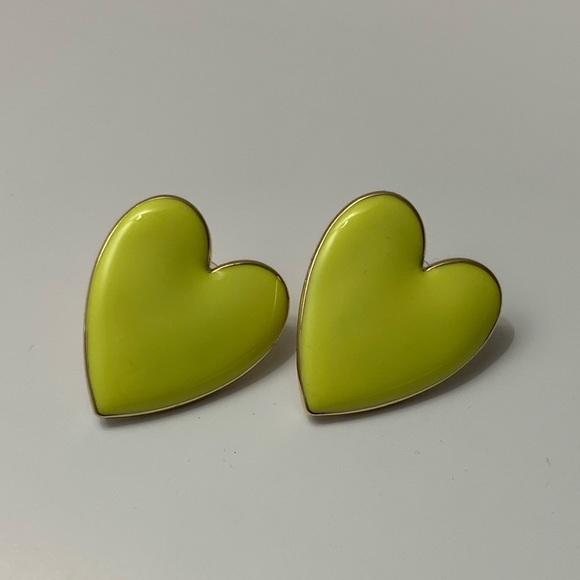 BaubleBar Jewelry - BAUBLEBAR NEON YELLOW HEART EARRINGS